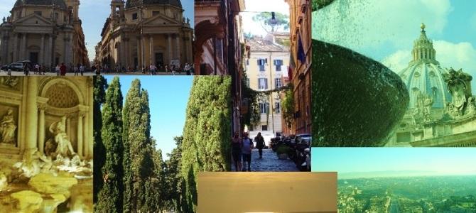 Chegando em Roma…