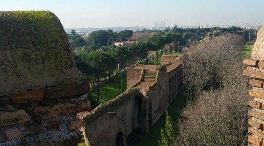 Brunch em cima dos muros de Roma