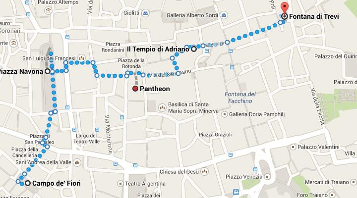 mapa pantheon