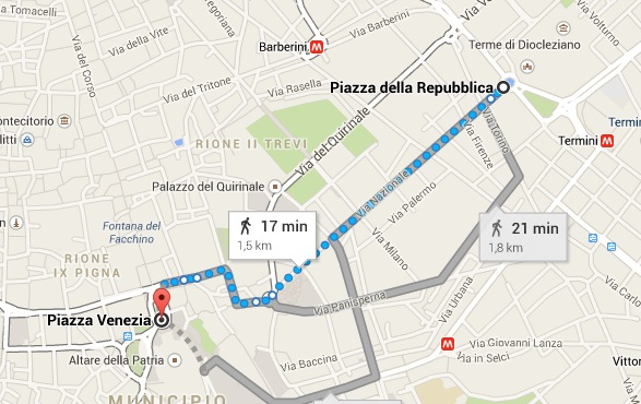 mapa piazza republica
