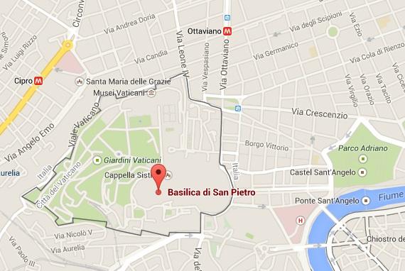 Basilica San Pietro - Mapa