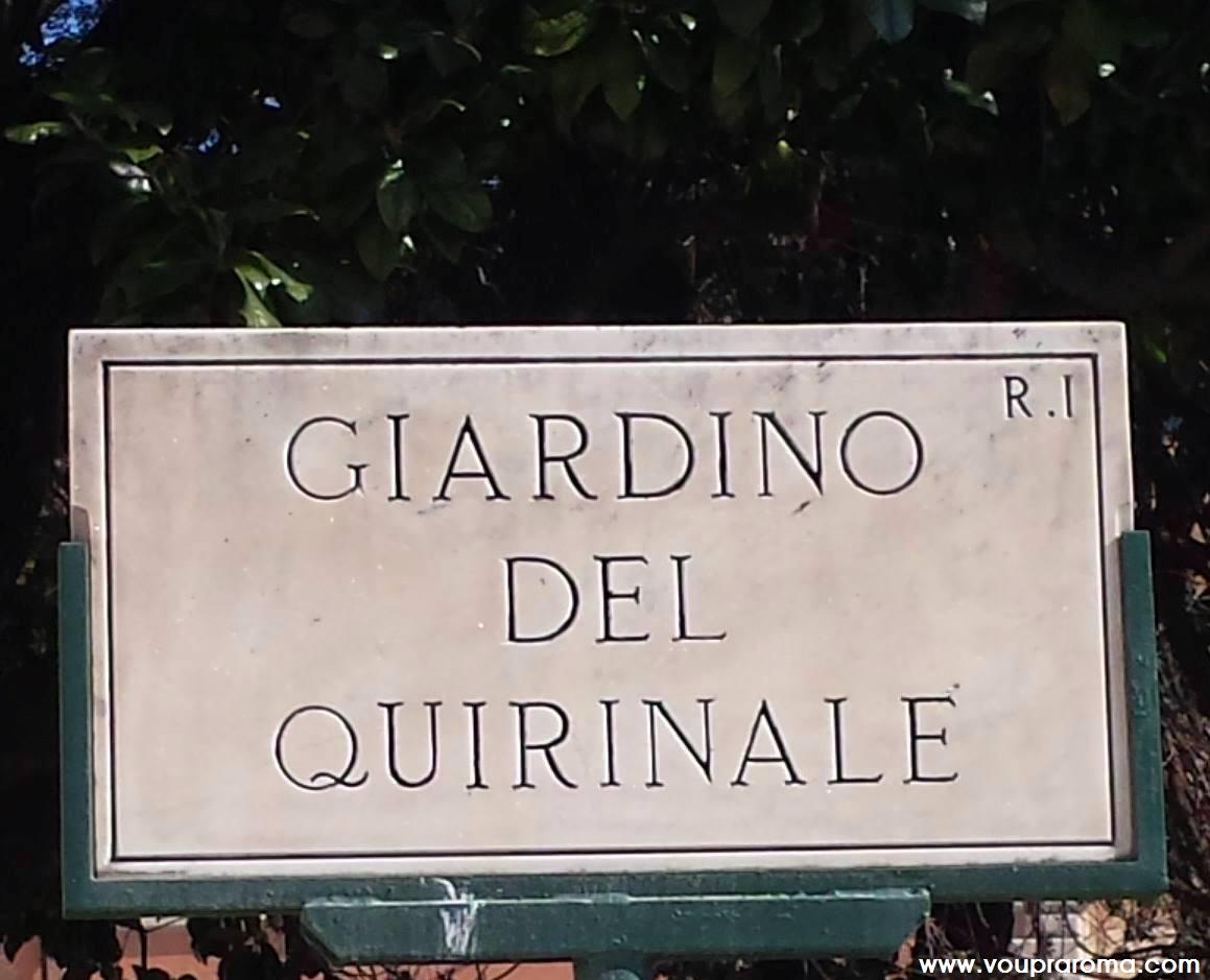 GIARDINO QUIRINALE