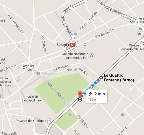 igreja sant'andrea + le quattro fontane