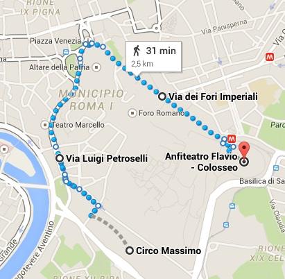 mapa - DESFILE NATALE DI ROMA