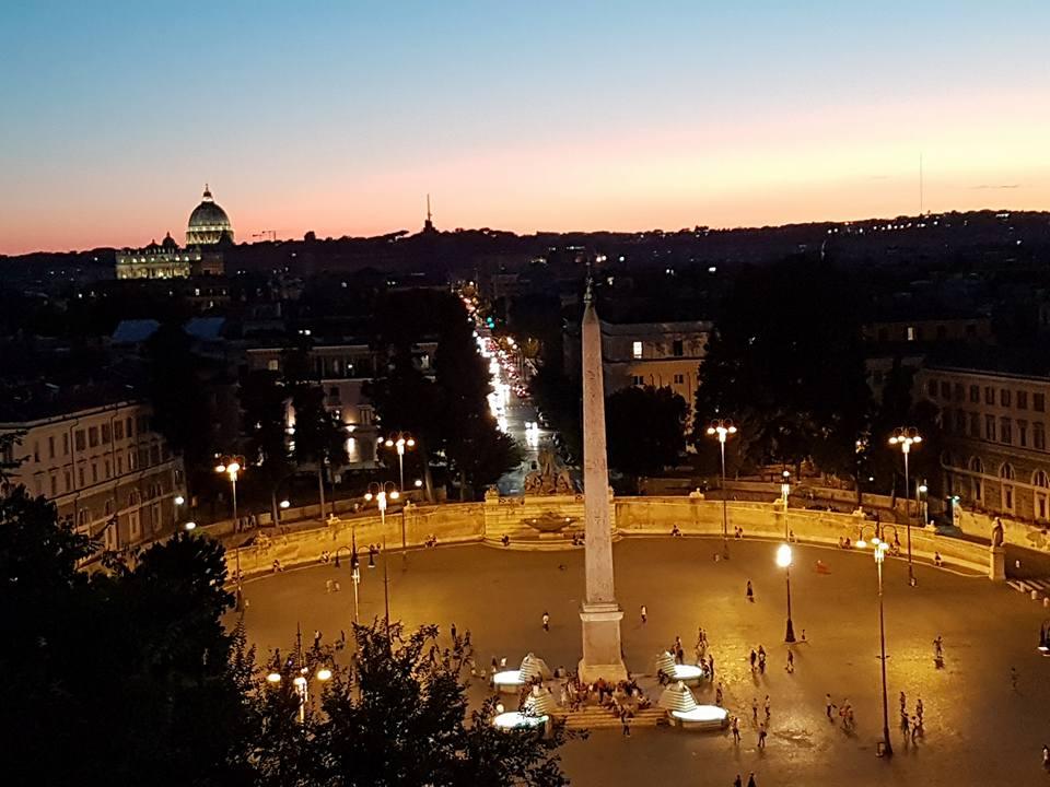 Piazza del Popolo - Vista da Terrazza del Pincio - Blog Vou pra Roma