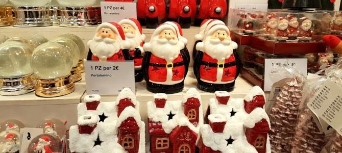 Compras de natal em Roma