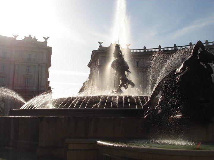 Caminhando por Roma - PIAZZA DELLA REPUBBLICA