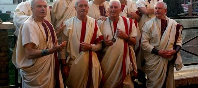 Encenação da morte de Giulio Cesare em Roma