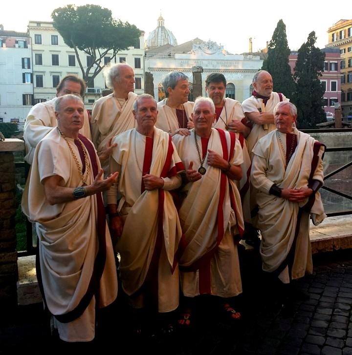 Morte de Cesare em Roma - Senadores - Blog Vou pra Roma