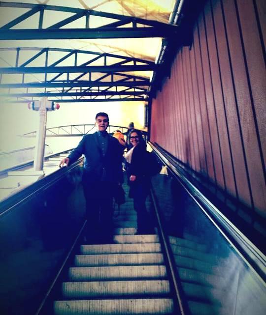 SPOLETO PERCURSO ROCCA  - escadas rolantes