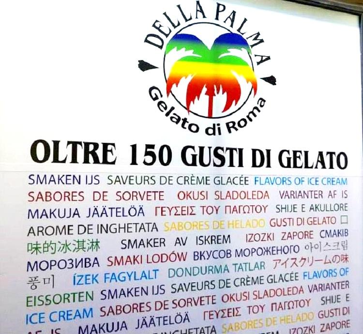 GELATERIA DELLA PALMA 150 SABORES