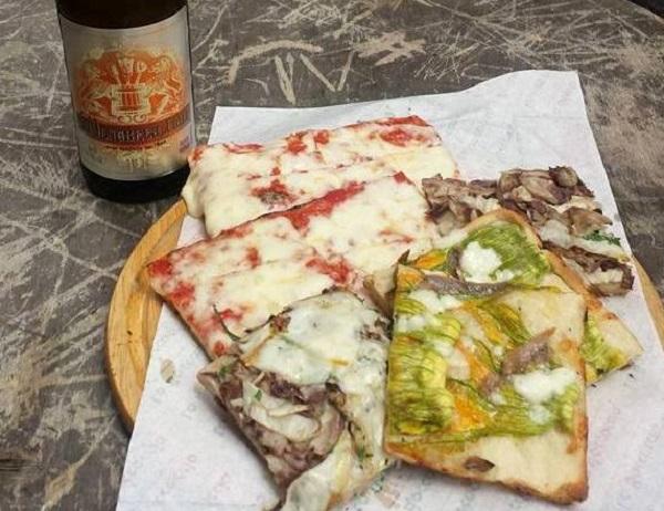 Pizza em pedaços - Roma - Blog VoupraRoma