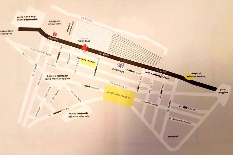 Mapa Mercato Centrale Roma