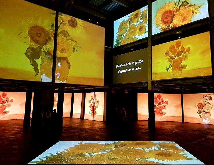 Girassóis - Mostra Van Gogh Alive Roma - Blog VoupraRoma