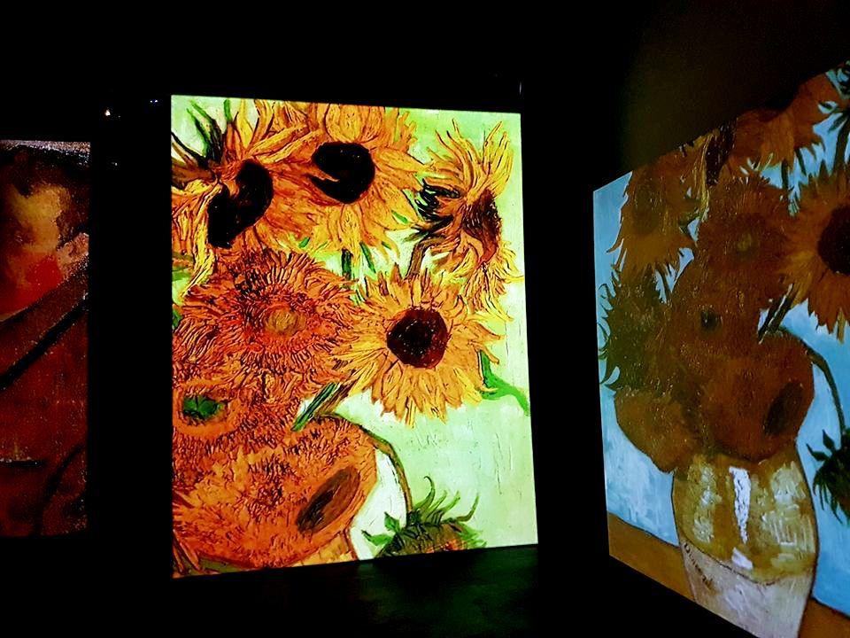Van Gogh Alive - Roma - Girassóis - Blog VoupraRoma