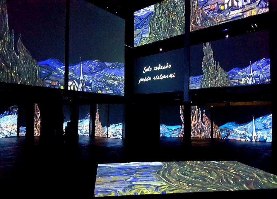 Projeções na Mostra Van Gogh Alive - Blog VoupraRoma