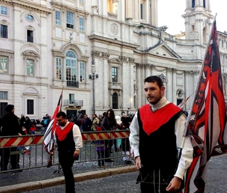 Sbandieratori - Carnaval em Roma