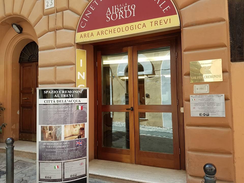 Entrada para a área arqueológica subterrânea  Trevi - Blog Vou pra Roma