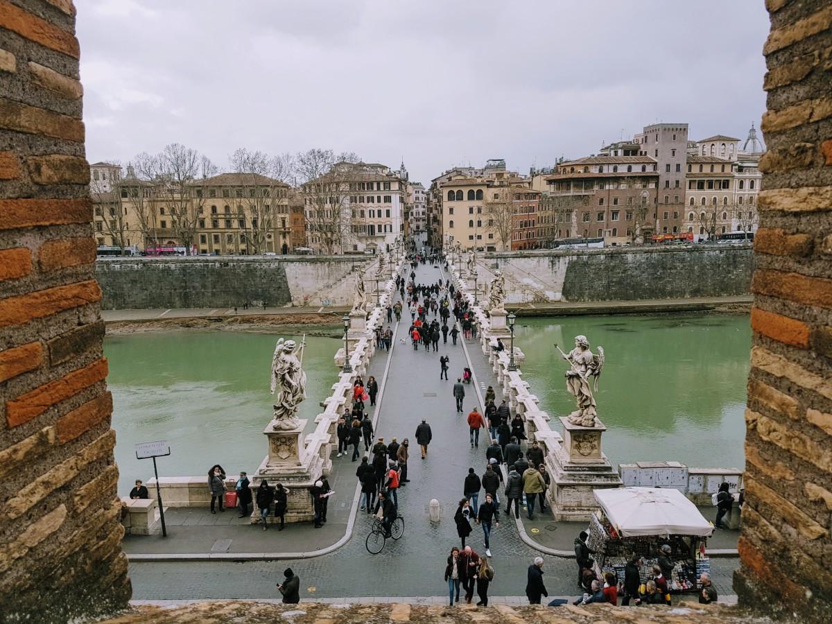 Castelo Sant'Angelo - Vista Ponte Sant'Angelo - Blog Vou pra Roma