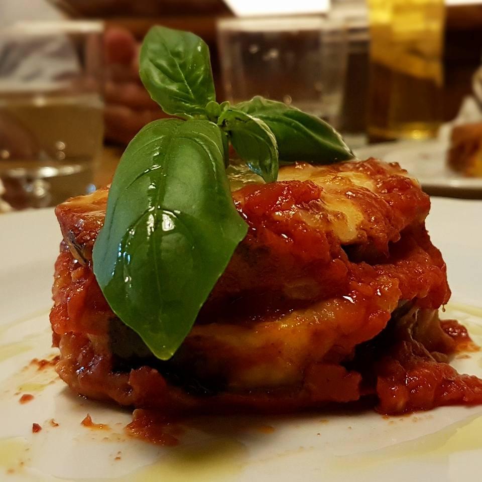 Onde comer em Roma - Berinjela parmigiana - Osteria Circo - Blog Vou pra Roma