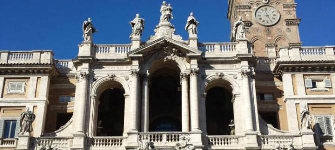 Neve e a Basílica di Santa Maria Maggiore em Roma