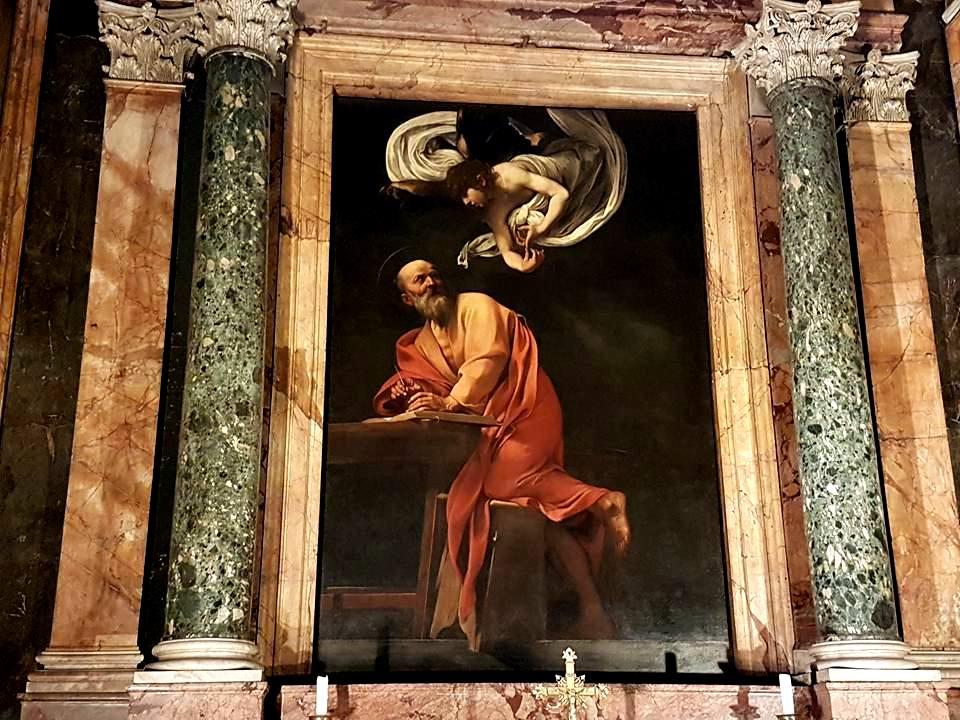 Caravaggio em Roma - Mateo e l'Angelo - Blog Vou pra Roma