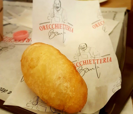 Orecchietteria Banfi - Panzerotto - a Puglia em Roma - Blog Vou pra Roma